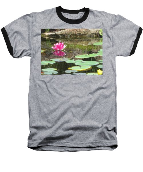 Pink Waterlilly  Baseball T-Shirt