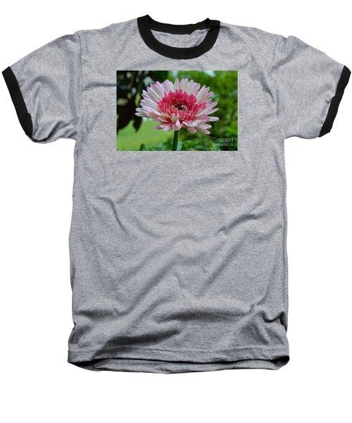 Pink Watermelon Baseball T-Shirt by Lew Davis