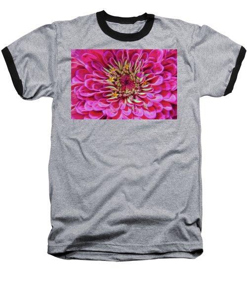 Pink Zinnia Glow Baseball T-Shirt