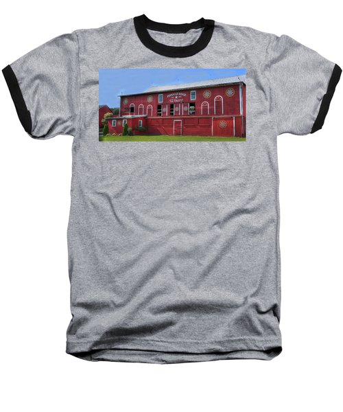 Baseball T-Shirt featuring the digital art Pinnacle Ridge Winery by Sharon Batdorf