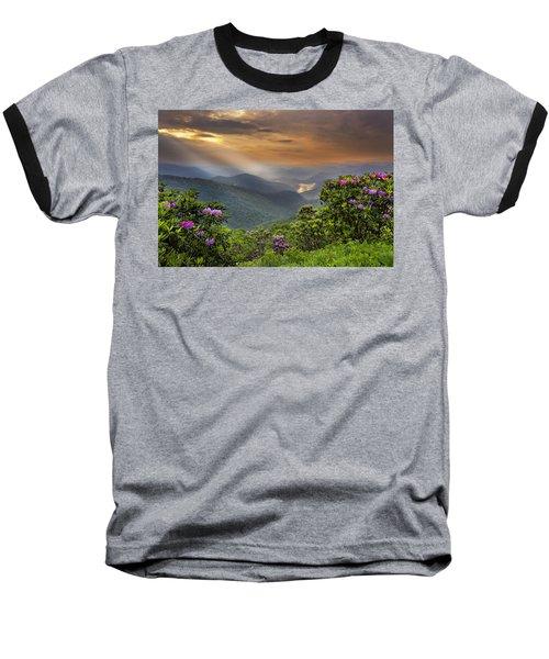 Pinnacle Sunset  Baseball T-Shirt