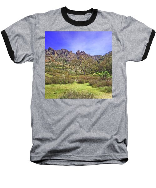Baseball T-Shirt featuring the photograph Pinnacles National Park Watercolor by Art Block Collections