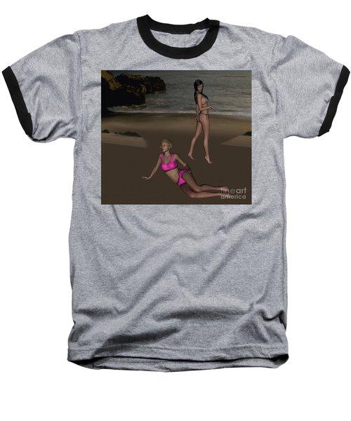 Pinups At Dusk Baseball T-Shirt
