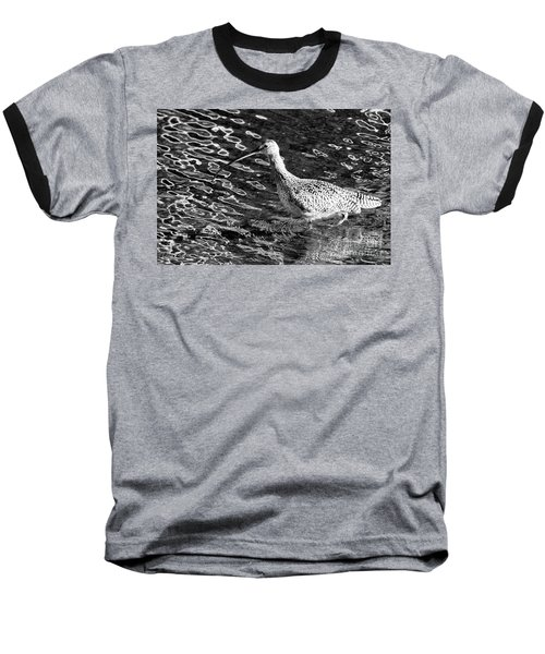 Piper Profile, Black And White Baseball T-Shirt