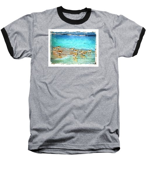 Baseball T-Shirt featuring the digital art Pipers Run by Linda Olsen