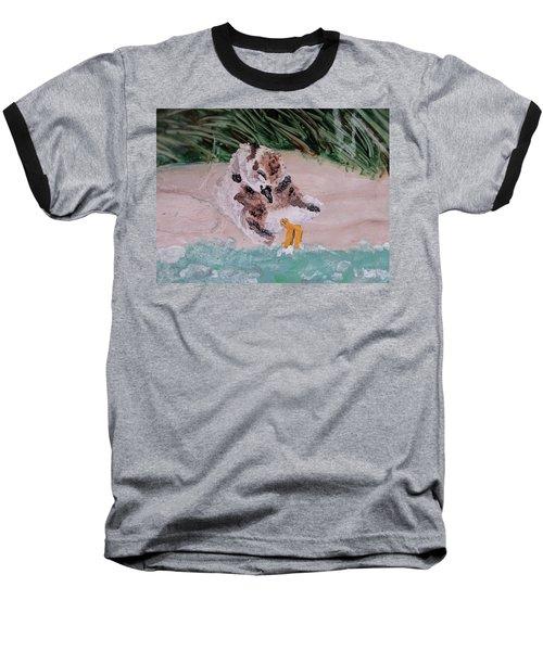 Piping Plover Chick 2 Baseball T-Shirt