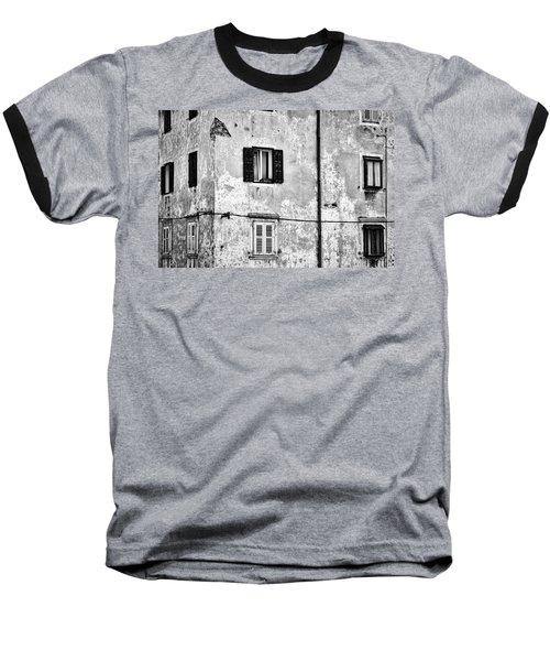 Baseball T-Shirt featuring the photograph Piran Windows - Slovenia by Stuart Litoff