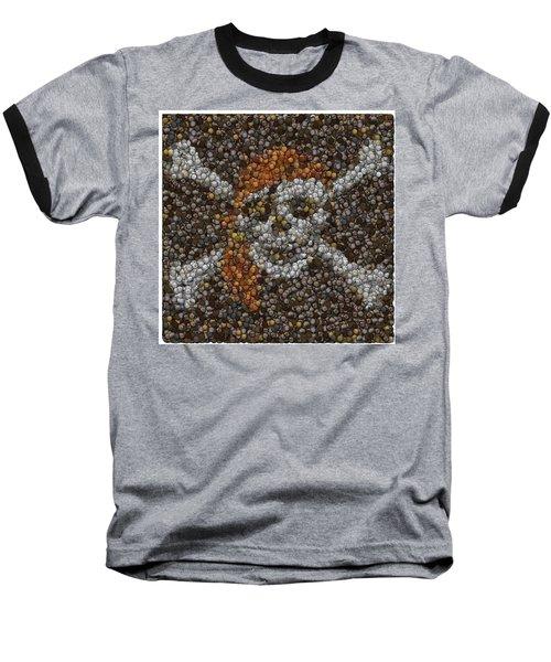 Baseball T-Shirt featuring the digital art Pirate Coins Mosaic by Paul Van Scott