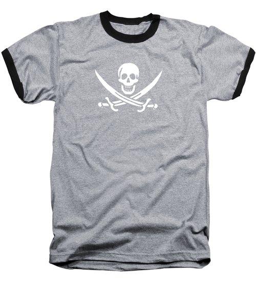 Pirate Flag Jolly Roger Of Calico Jack Rackham Tee Baseball T-Shirt by Edward Fielding