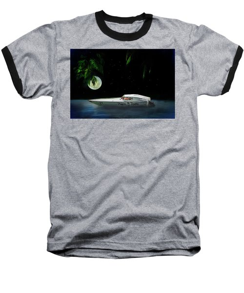 Baseball T-Shirt featuring the painting Pirate Racing by Michael Cleere