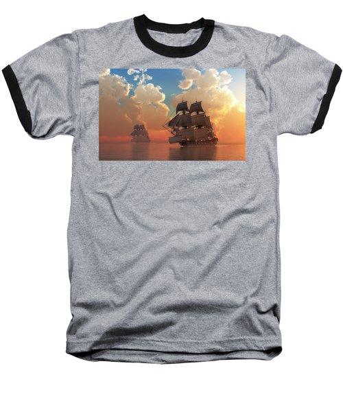 Pirate Sunset Baseball T-Shirt