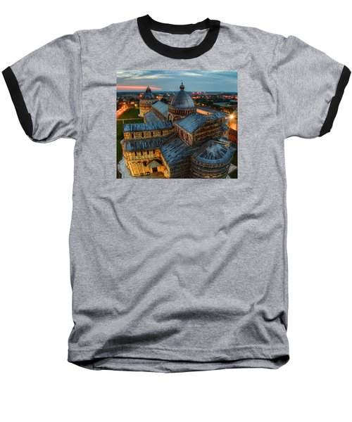Pisa Cathedral Baseball T-Shirt by Robert Charity