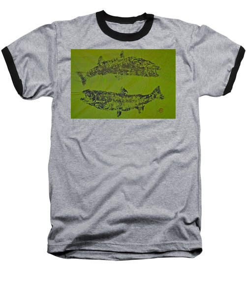 Pisces Rising  Steelhead Salmon Baseball T-Shirt