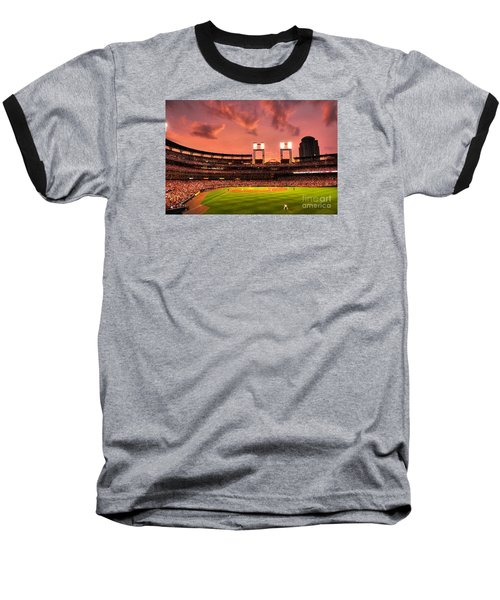 Baseball T-Shirt featuring the digital art Piscotty In Left Field by William Fields