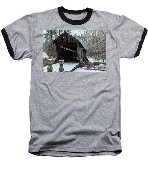 Pisgah Covered Bridge - Modern Baseball T-Shirt