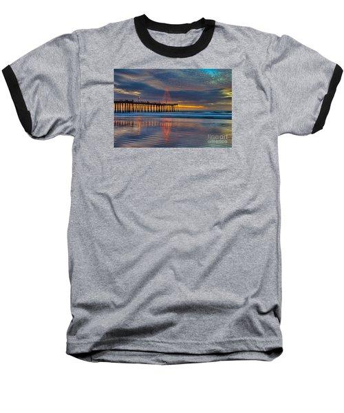 Pismo Beach Christmas Baseball T-Shirt