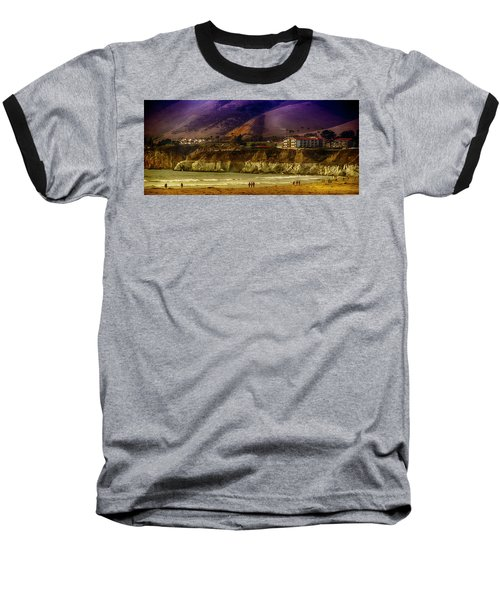 Baseball T-Shirt featuring the photograph Pismo Beach Cove by Joseph Hollingsworth