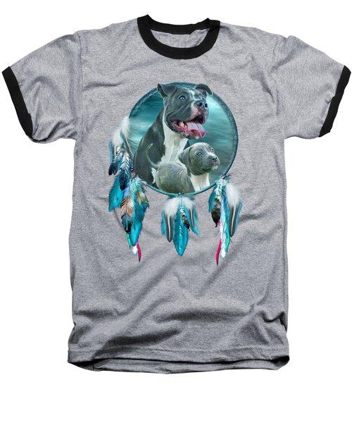 Pit Bulls - Rez Dog Baseball T-Shirt by Carol Cavalaris
