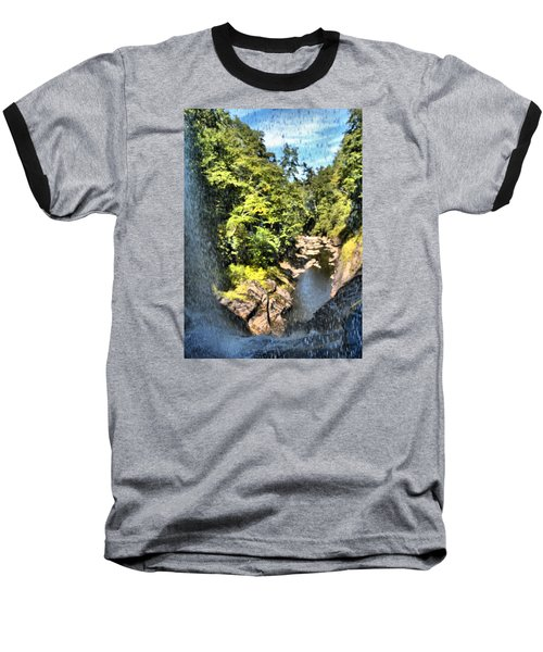 Pitcher Falls And Cullasaja Gorge Baseball T-Shirt by James Potts