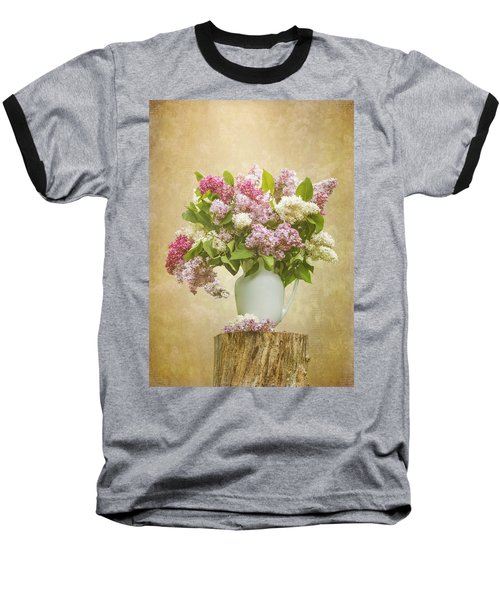 Pitcher Of Lilacs Baseball T-Shirt by Patti Deters