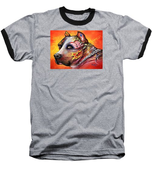 Pit Bull Baseball T-Shirt