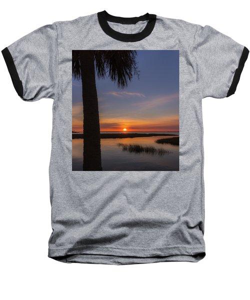 Pitt Street Bridge Palmetto Sunset Baseball T-Shirt