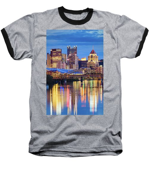Pittsburgh 2 Baseball T-Shirt by Emmanuel Panagiotakis