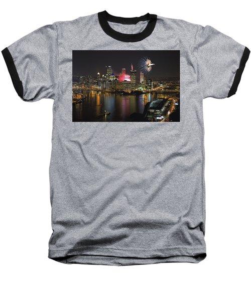 Pittsburgh 3 Baseball T-Shirt by Emmanuel Panagiotakis