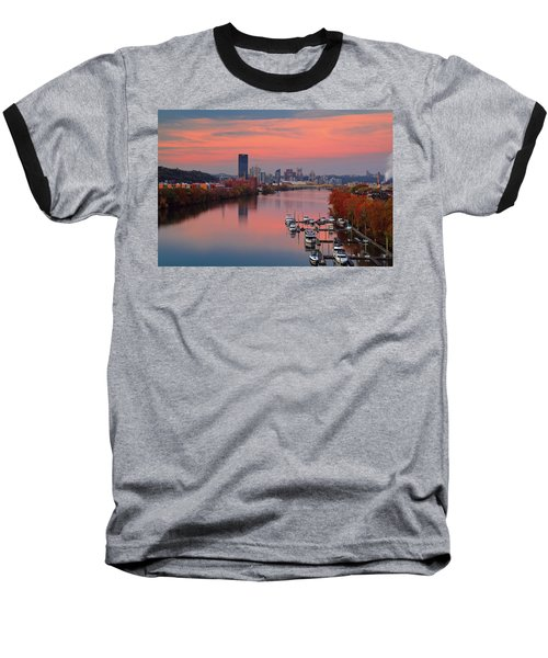 Pittsburgh 31st Street Bridge  Baseball T-Shirt by Emmanuel Panagiotakis