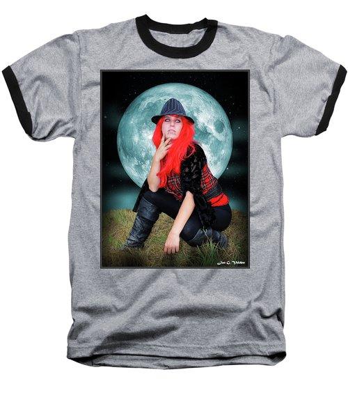 Pixie Under A Blue Moon Baseball T-Shirt