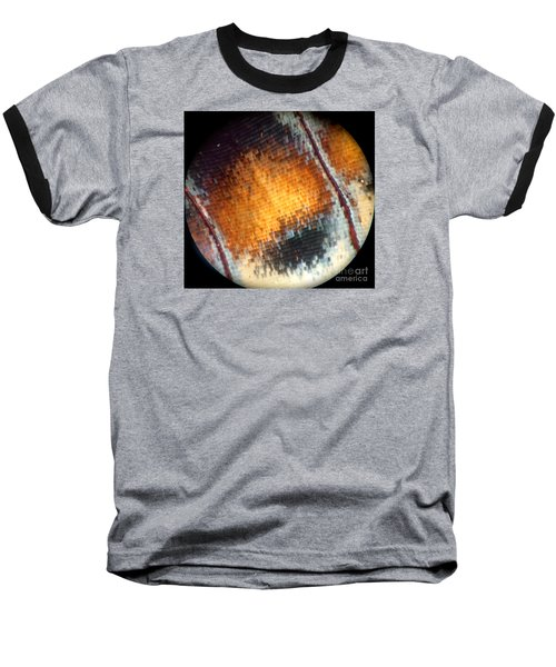 Pixilated Color Baseball T-Shirt by KD Johnson