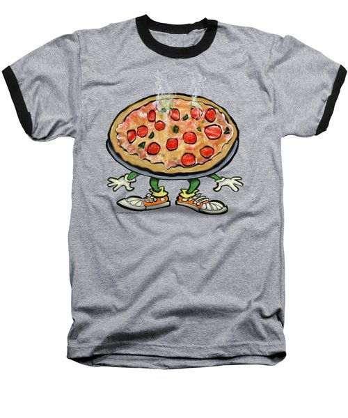 Pizza Baseball T-Shirt