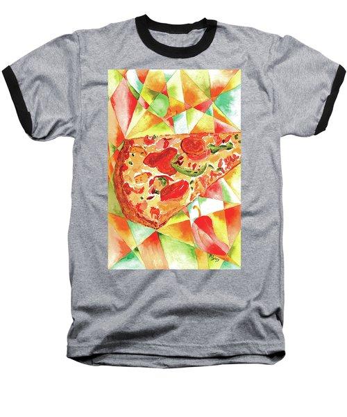 Pizza Pizza Baseball T-Shirt by Paula Ayers