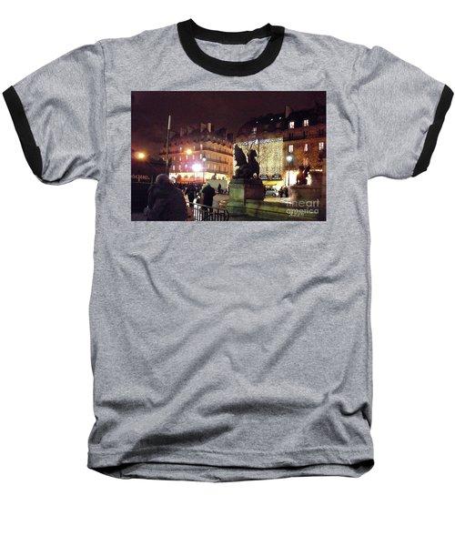 Place Saint-michel Baseball T-Shirt by Felipe Adan Lerma