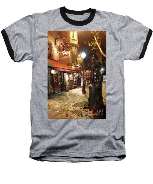 Place St Michel To Rue Saint-andre Des Arts Baseball T-Shirt by Felipe Adan Lerma