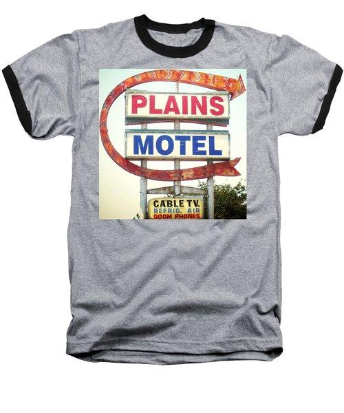 Plains Motel Baseball T-Shirt