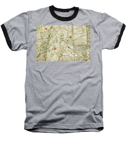 Baseball T-Shirt featuring the photograph Plan Of Central London by Patricia Hofmeester