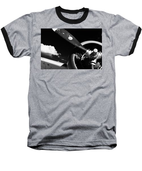 Plane Portrait 1 Baseball T-Shirt by Ryan Weddle