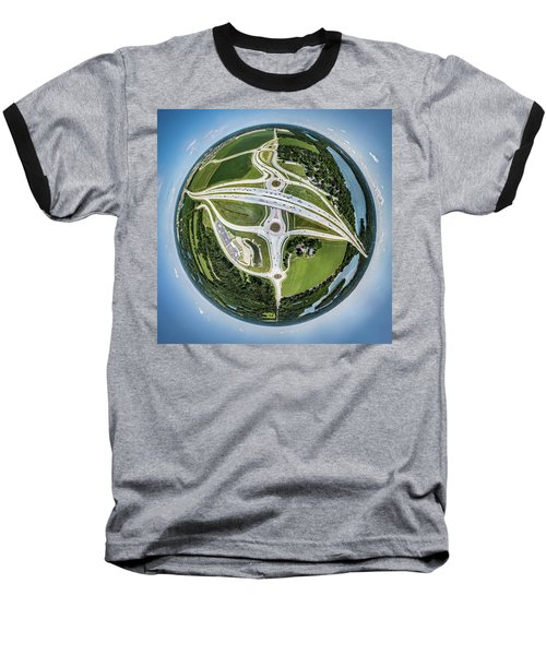Baseball T-Shirt featuring the photograph Planet Of The Roundabouts by Randy Scherkenbach