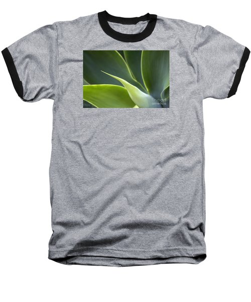Plant Abstract Baseball T-Shirt by Tony Cordoza