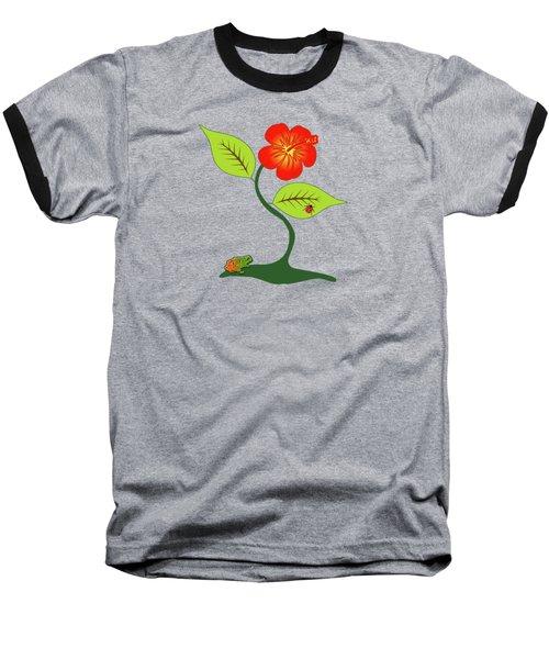 Plant And Flower Baseball T-Shirt by Gaspar Avila