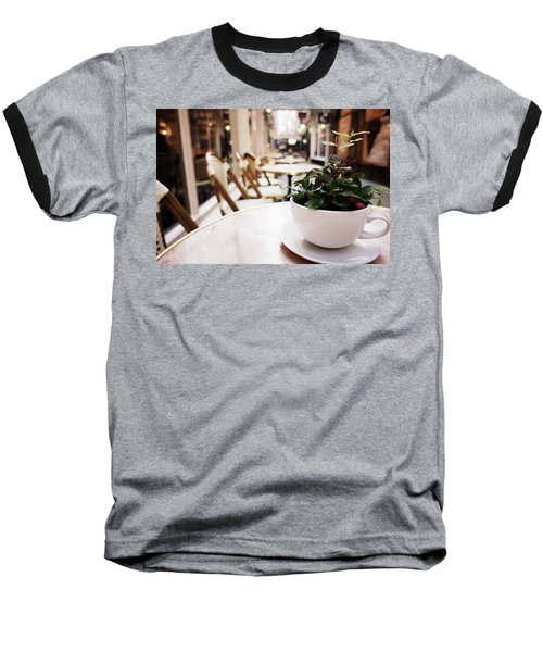 Plant In A Cup In A Cafe Baseball T-Shirt