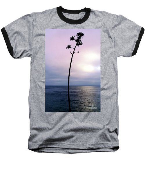 Baseball T-Shirt featuring the photograph Plant Silhouette Over Ocean by Mariola Bitner