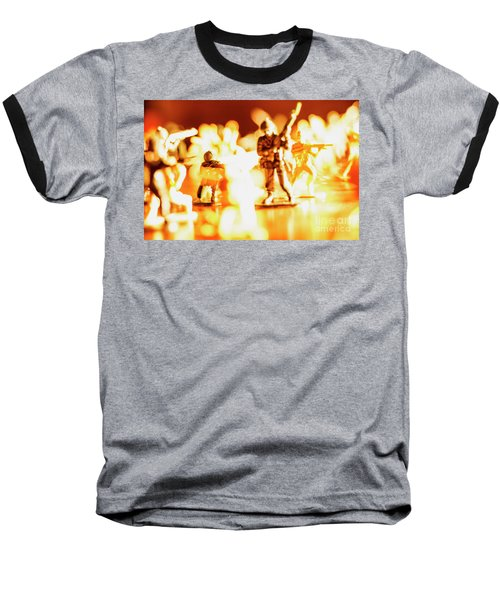Baseball T-Shirt featuring the photograph Plastic Army Men 1 by Micah May