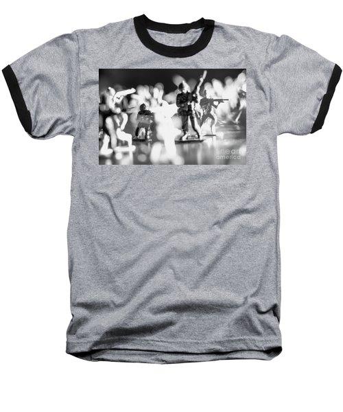 Plastic Army Men 2 Baseball T-Shirt by Micah May