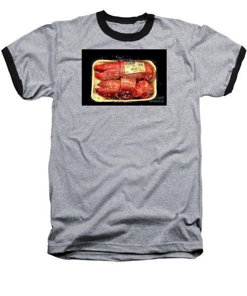 Plasticized..for Your Protection Baseball T-Shirt by Joe Jake Pratt