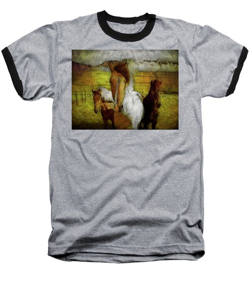 Baseball T-Shirt featuring the photograph Plateau Ponies by Bellesouth Studio