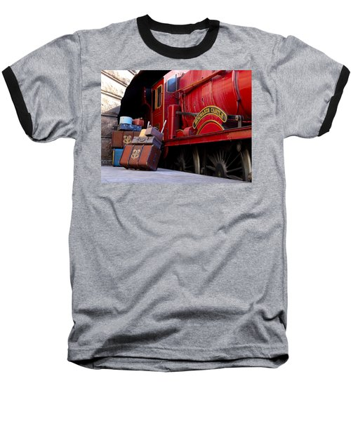 Baseball T-Shirt featuring the photograph Platform Nine And Three Quarters by Julia Wilcox