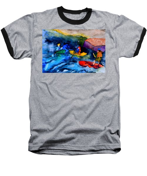 Platte River Paddling Baseball T-Shirt