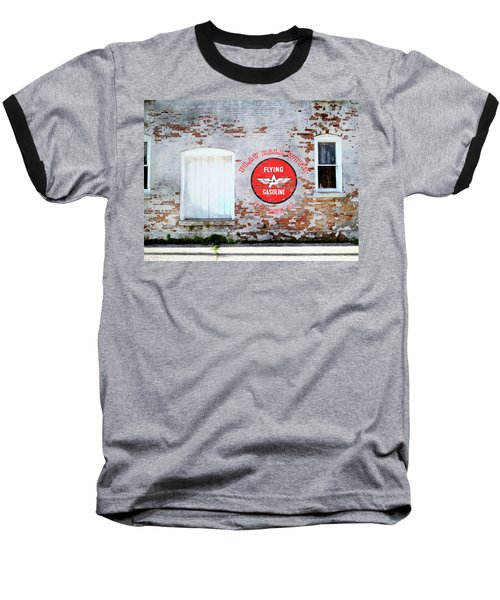 Baseball T-Shirt featuring the digital art Play Ball With Flying A by Sandy MacGowan